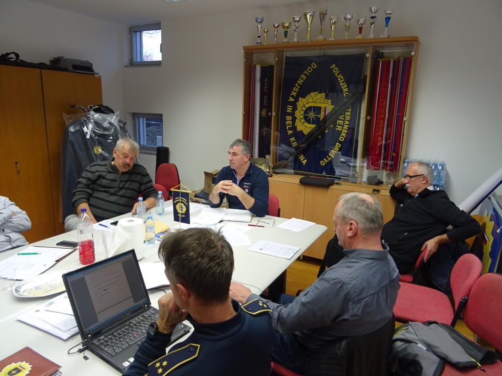 19. redna seja Upravnega odbora  PVD SEVER Dolenjska in Bela krajina
